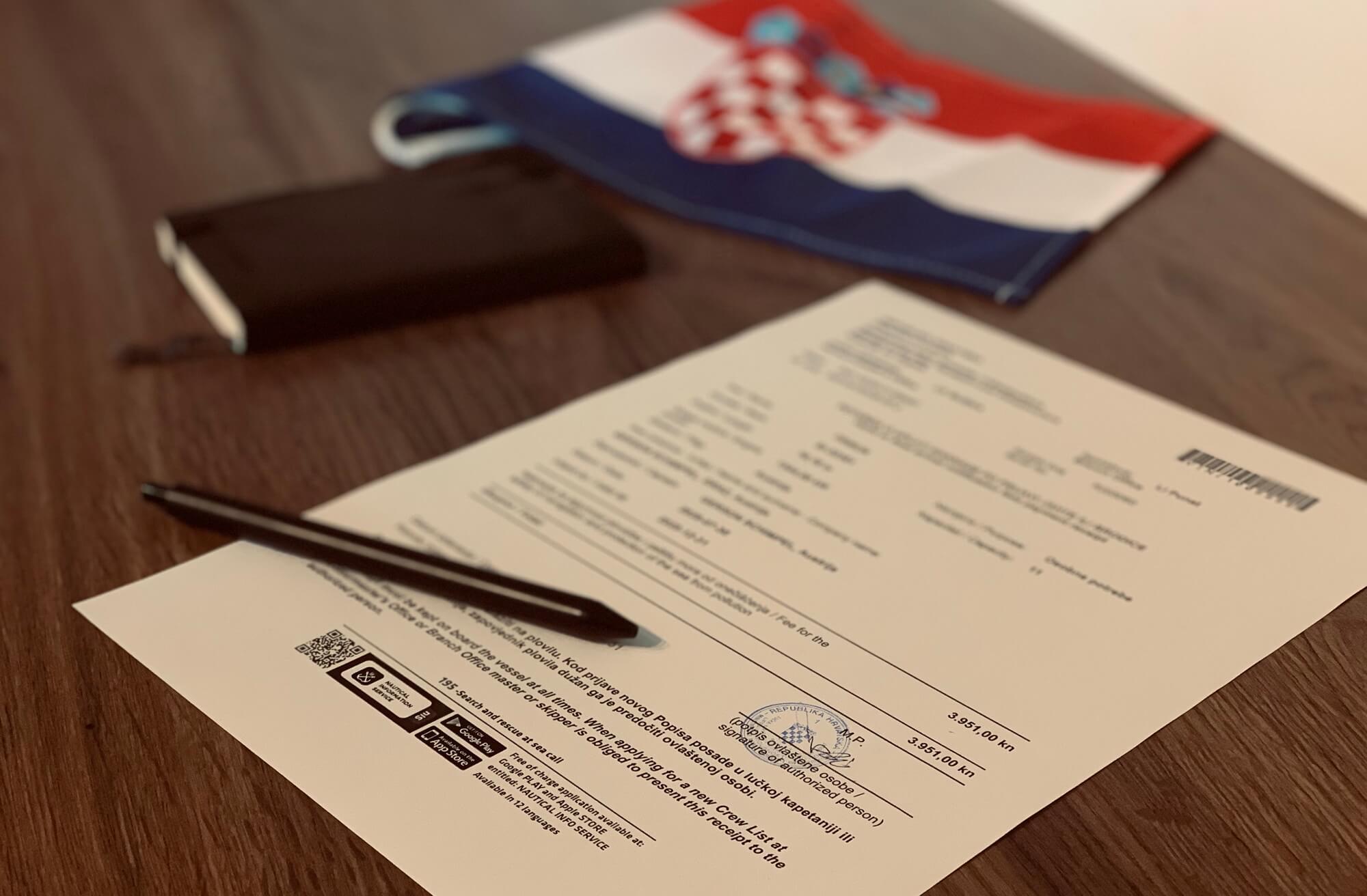 Permit Vignette Kroatien Croatia Yacht
